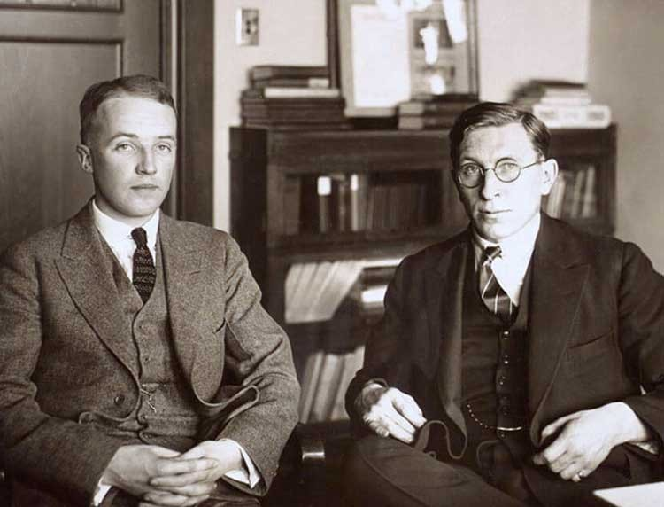Frederick Banting and Charles Best at the University of Toronto.